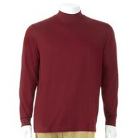 George Men's Mock Turtle Neck Top Red M