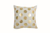 Ivory Park Foil Dots Large Gold Decorative Throw Cushion