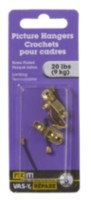Brass Plated Locking Picture Hook 3 Pieces