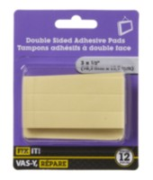 "3"" x 1/2"" Double Sided Adhesive Pads 12 Pieces"
