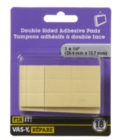 "1"" x 1/2"" Double Sided Adhesive Pads 18 Pieces"