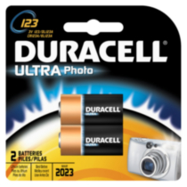 Duracell Ultra Photo 123 3V Batteries, 2 Count