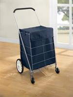 Mainstays 4 Wheel Shopping Cart with Bag