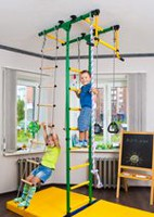 Limikids Comet-2.06 Home Gym - metal rungs covered with plastic with massage bumps- Red-yellow