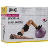 Everlast 65cm Burst Resistant Fitness Ball with DVD