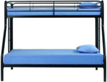 DHP Twin Over Full Bunk Bed Black