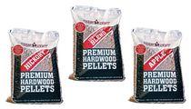 3 sacs de granules Camp Chef - Competition Blend/Mélange au pommier de haute qualité/Mélange au noyer de haute qualité (9 kg par sac)
