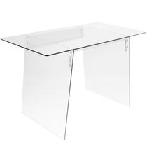 Glacier Contemporary Desk by LumiSource