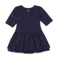 George baby Girls' Sparkle Tulle Dress Navy 6-12 months