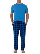 Varsity Mens Micro/Fleece Sleep Pant and Crewneck Jersey Shirt Set/ Pajama Set