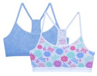 George Girls' 2 Pack Bra Floral Print L