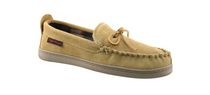 Canadiana Men's Suede Mocassin Style Slipper Tan 7