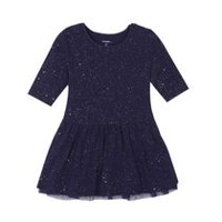 George Toddler Girls' Sparkle Tulle Dress Navy 2T