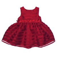George Girls Dress RED 6-12 months