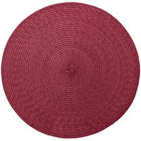 hometrends Round Solid Woven Placemat Red