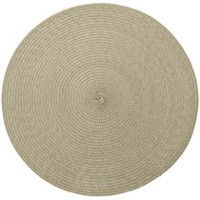 hometrends Round Solid Woven Placemat Tan