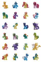 Assortiment de figurines miniatures en sac surprise de My Little Pony