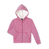 George Girls' Sherpa Lined Hoody Pink L