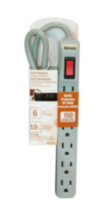 Electronics 6-Outlet Surge Protector 150J