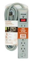 Woods Industries Electronics 6-Outlet 800J Surge Protector