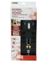 Multimedia 10-Outlet Surge Protector 4200J