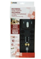 Woods Industries Multimedia 10-Outlet 4200J Surge Protector