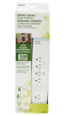 Energy Saving 6-Outlet Smart Surge Protector 1500J
