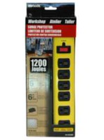 Woods Industries Workshop Metal 6-Outlet 1200J Surge Protector