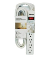 Woods Industries 6-Outlet Power Strip
