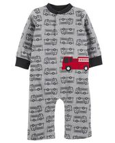 Child of Mine made by Carter's Newborn Boy's 1 piece Firetruck Jumpsuit 18M