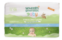 Seventh Generation Free & Clear Baby Wipes, 128 ct Refill