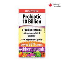 Webber Naturals® Probiotic 10 Billion 5 Probiotic Strains