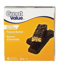 Great Value Peanut Butter Coated Granola Bars