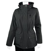Athletic Works Long Bonded Soft Shell Ladies Jacket Black L/G
