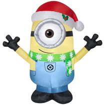 Airblown Self-Inflatable Garden Decor Minion Carl with Scarf