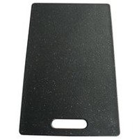 "Grand Epicure 9"" x 15"" x 9.5 mm Poly Black Granite Cutting Board"