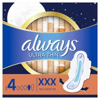 Always Maxi Overnight 10-Hr Leakguard Protection Pads