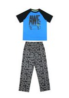 George Boys' 2-Piece Pyjama Set Blue XS