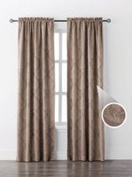 Mainstays Damask Single Window Curtain Taupe