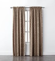 Mainstays Geo Jacquard Single Window Curtain Taupe
