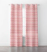 Mainstays Lattice Window Curtains Coral