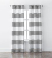 Mainstays Stripe Window Curtains Grey