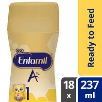 Préparation pour nourrissons Enfamil A+, prête à servir, bouteilles prêtes à recevoir la tétine