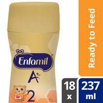 Préparation pour nourrissons Enfamil A+ 2, bouteille prête à servir et prête à utiliser la tétine