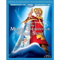 The Sword In The Stone: 50th Anniversary Edition (Blu-ray + DVD) (Bilingual)
