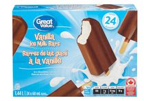 Great Value Vanilla Bars in A Chocolatey Coating