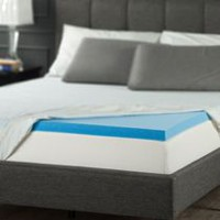 "Zinus 2"" Gel Memory Foam Mattress Topper Queen"
