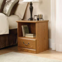 Sauder, Night Stand, Carolina Oak Finish, 401290
