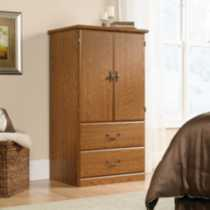 Sauder, Armoire, Carolina Oak Finish, 401292