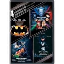 4 Film Favourites: Batman Collection - Batman / Batman Returns / Batman Forever / Batman & Robin (Bilingual)